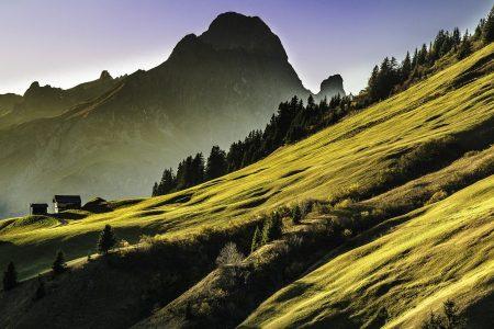 Montagne verdoyante